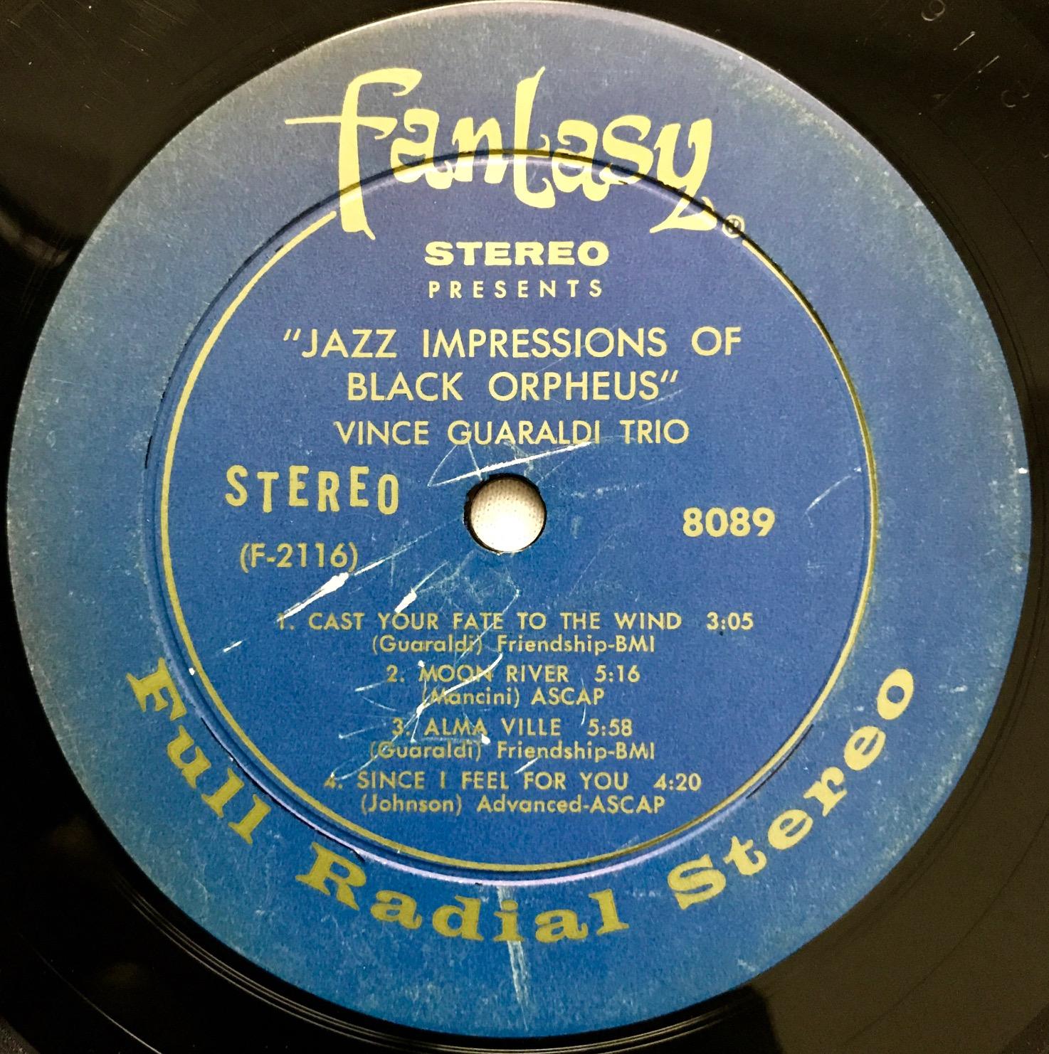 Jazz Impressions Of Black Orpheus Vince Guaraldi Trio